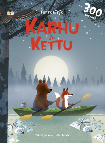 Cover of the Bear and Fox sticker book (FIN)
