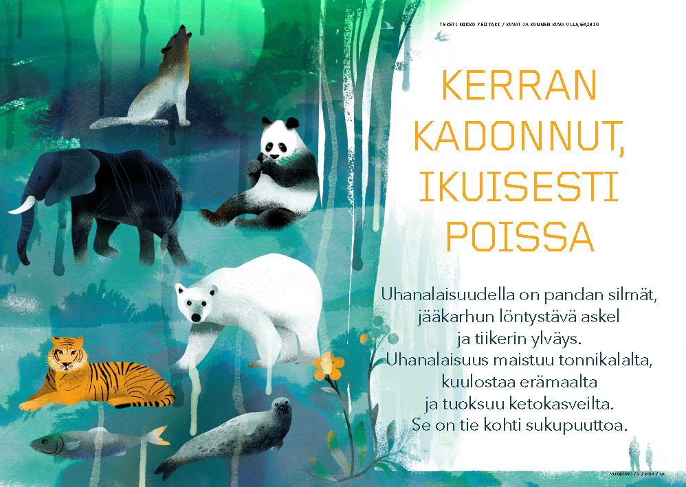 Extinction illustration first spread